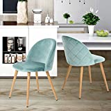 Dining Chairs Coavas Soft Seat and Back Velvet Living Room Chairs with Wooden Style Sturdy Metal Legs Kitchen Chairs for Dining Room Set of 2, Aauq
