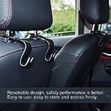 Swiftswan 4 Teile/Satz Universal Auto Auto Rücksitz Kopfstütze Kleiderbügel Haken Geldbörse Tasche Halter (Farbe: Schwarz)