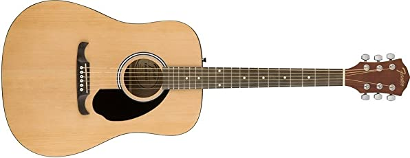 Fender 0971110021 Dreadnought Acoustic Guitar (Natural)