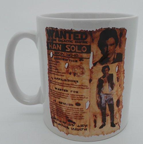 HAN Solo, Han Solo Wanted Poster, GPO Groupe exclsuive Design, Wanted Poster, Tasse Star Wars Han Solo, cadeaux, Passe au micro-ondes et au lave-vaisselle Tasse Mug 30cl