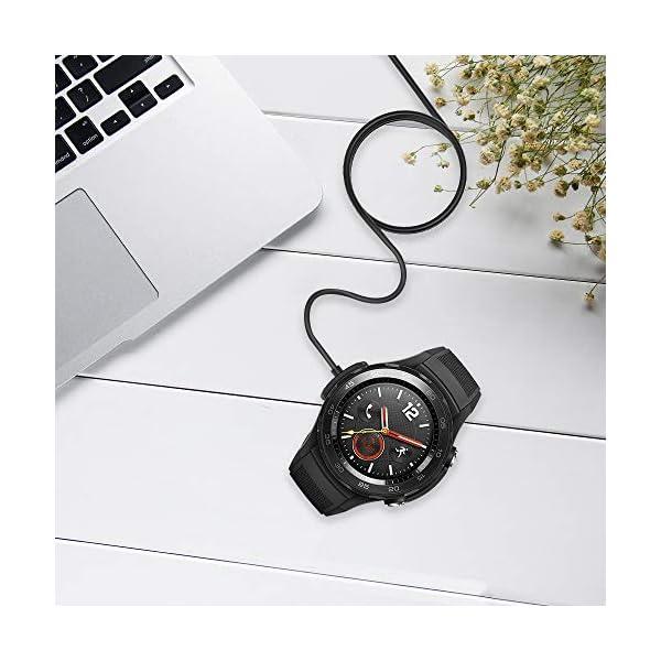 KIMILAR Cable Compatible con Huawei Watch 2 / Watch 2 Pro Cargador, [2 Pack] Base de Carga USB Compatible con Huawei… 8