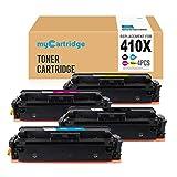 Mycartridge 4 Pack kompatibel HP 410X CF411X CF412X CF402X CF413X Toner für HP Color Laserjet Pro M452DW M452DN M452NW MFP M477fnw M477fdn M477fdw (Schwarz/Cyan/Magenta/Gelb)