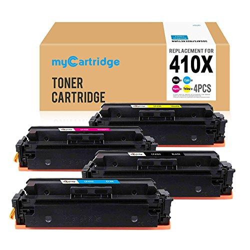 MYcartridge 4 Cartucho de tóner X Compatible HP 410X CF410X für HP Color Laserjet Pro M452DW M452DN M452NW|MFP M477fnw M477fdn M477fdw Impresore