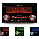 auna MD-200 2G BT Radio para coche (2 DIN, Bluetooth, radio FM, 4x75W potencia máxim, microfono integrado, ecualizados 2 bandas)