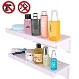 TEPSMIGO Duschkörbe, Duschablage Ohne Bohren, Duschregal, Plastikbadezimmer-Regal-Einfache Installierung für Dusche/Küche/Wohnzimmer(2pcs)