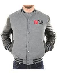 Solamode - Veste Teddy manches simili cuir - YMCMB - VE2220 - Fashion - Gris/Noir