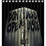 """COLORFUL Walking Dead Don't Open Dead Inside Polyester Bath Bathroom Shower Curtain Large 66"""" x 72"""" WATERPROOF, NOT FADING, NOT LEAKING, NOT SMELL, MACHINE WASHABLE"""
