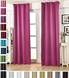 Woltu # 489un pannello a pieghe, opaco, tenda oscurante, pronta finestra trattamento per soggiorno e camera Light Blocking nastro Top curtain|1pezzo, Pink, 53' wide x 89' Drop/135x225cm