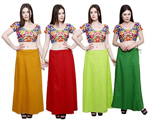 Pistaa combo of Women's Cotton Mustard, Maroon, Parrot Green and Pak Green...