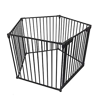 Venture All Stars VUE Foldable Playpen | Black (Black Vue Playpen)