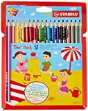STABILO 040024.93Pastels Trio Maxi, lot de 18pièces