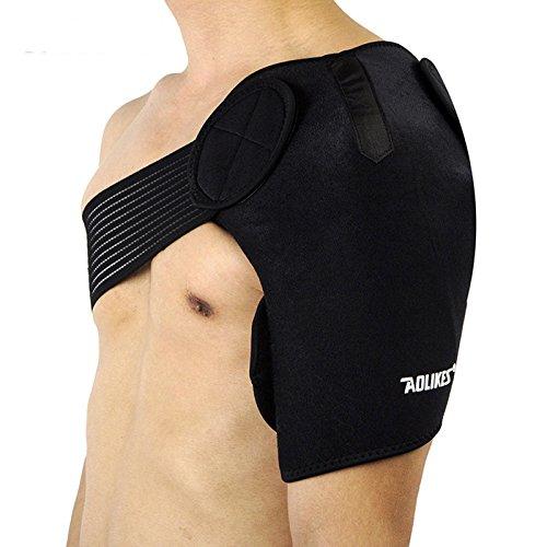 Proteccion Deportiva Ortopedica para Hombro Brazo Transpirable Color Negro 4544n