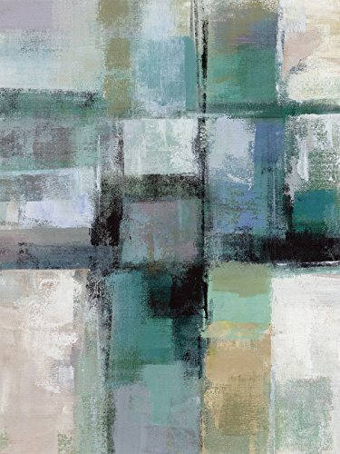 Artland Kunstdruck I Poster Silvia Vassileva Inselfarben I Abstrakte Motive Muster Karo Malerei Blau B2OA