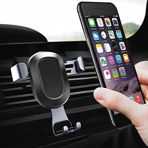 Universale Handyhalter Auto, ikalula Handyhalterung Auto 360 Grad KFZ Handy Halterung Einstellbare Lüftungsschlitz Handy Halter Auto für iPhone X/8/7/6, Galaxy S8/S7, LG, Huawei und Andere Smartphone