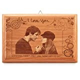 Presto Personalized Engraved Quotes Wooden Photo Plaque Frame (9x6-inch)