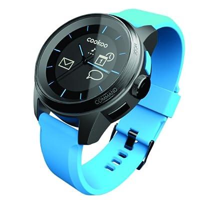 Reloj Cookoo SmartWatch Azul para iPhone, iPad, iPod Touch (iOS 5 / iOS 6) & Samsung Galaxy S4 y otros dispositivos Android 4.2.2 o superior