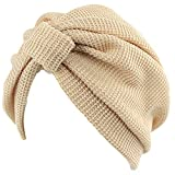 Ssowun Nuovo cappello turbante donna cotone berretto indiano cappello  chemioterapia 7bcb94477f2a