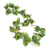 artplants - Künstliche Hopfengirlande LISIAS mit 35 Dolden, 170 cm - Kunstpflanzen Girlande/Deko Girlande