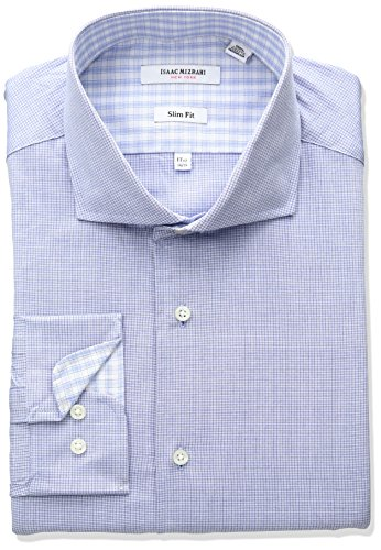 isaac-mizrahi-mens-slim-fit-micro-check-cut-away-collar-dress-shirt-royal-17-neck-34-35-sleeve