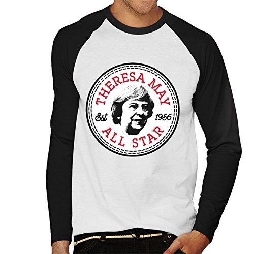 Theresa May All Star Converse Logo Men's Baseball Long Sleeved T-Shirt
