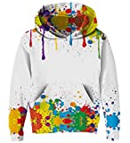 Goodstoworld bunt 3D Hoodie Kapuzenshirt Mädchen Jungen Kinder 3D Druck Paint Splatter Sweatshirt Pullover Coole Pulli Hoodie