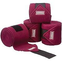 LeMieux Luxury Fleece - Vendas para Caballo, Color Morado, Talla 3.8 m