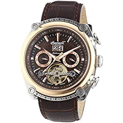 - IN6909RBR Watch by Ingersoll Men's Automatic Watch with Chronograph Brown Leather Strap