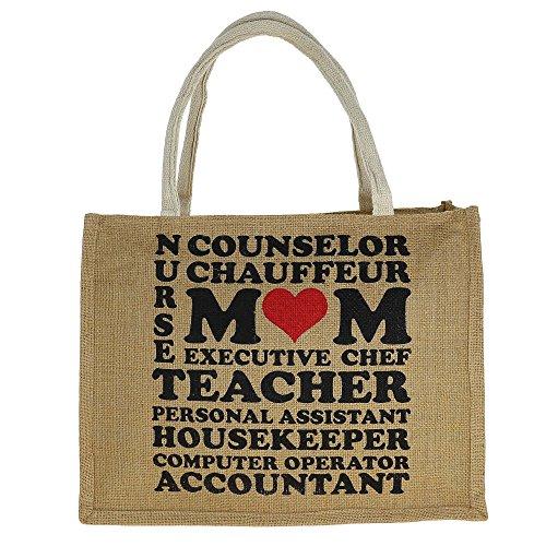 Jute Vielzweck-Einkaufstasche mit Zipper Verschluss oben - Graphic Wasserdichte Taschen-Tasche Multi-95