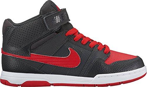Nike Mogan Mid 2 Jr B, Scarpe da Skateboard Bambino Grigio (Anthracite/University Red)