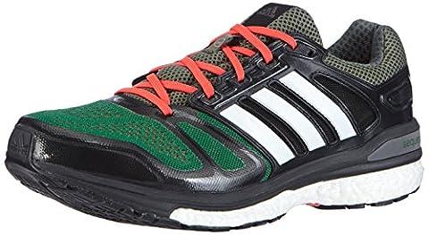 adidas Performance Supernova Sequence Boost, Herren Laufschuhe, Mehrfarbig (Base Green S15/Ftwr White/Core Black), 42 EU (8 Herren