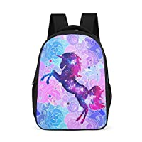Dofeely Unicorn Pattern School Backpacks Lightweight School Bag Children Teenagers Women