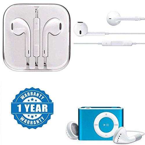 Drumstone Handsfree Earpod With Mic And Volume Button With ipod MP3 palyer Compatible with Xiaomi, Lenovo, Apple, Samsung, Sony, Oppo, Gionee, Vivo Smartphones (1 Year Warranty)