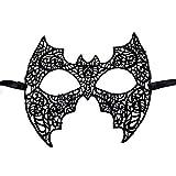 Hosaire 1x Spitzen Durchbrochene Maske Damen Stoff Maske Zubehör Karneval Maskerade für Halloween Weihnachten Party 16 * 24cm Batman