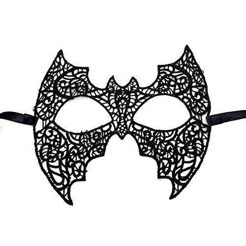 Cdet 1x Batman Augenmaske Spitze Hollow Maske Halloween Masken Masquerade Maske Karneval Kostüm Masken Maskentanzabend Party Foto Zubehör (Sexy Batman Kostüme Für Männer)