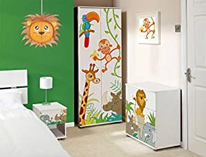 Lion Lampshade Decorative Animal Lampshades for Children bedroom playrooms baby nursery lighting Fun and vibrant colours makes Pendant lights and Ceiling shades something special and a great gift by Aniworld