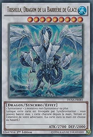 "Carte Yu-Gi-Oh! ""Trishula, Dragon de la Barrière de Glace"" DUSA-FR081 - VF/ULTRA RARE"