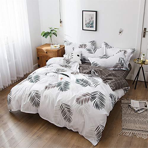 YUNSW. Textiles hogar Hoja árbol Impreso Funda nórdica