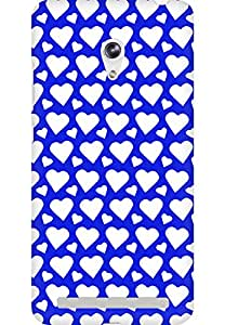 AMEZ designer printed 3d premium high quality back case cover for Asus Zenfone 6 (dark blue white hearts)