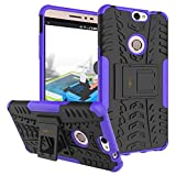 Heartly Coolpad Max A-8 Back Cover Kick Stand Rugged Shockproof Tough Hybrid Armor Dual Layer Bumper Case - Frame Purple