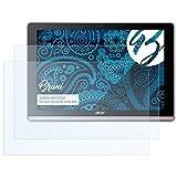 Bruni Schutzfolie für Acer Iconia One 10 (B3-A50) Folie - 2 x glasklare Displayschutzfolie