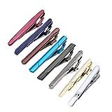 Zysta 8* Herren Krawattennadel Krawattenklammer Set hochwetigen Geschenk Silber Gold Schwarz Rot Blau aus Edelstahl (Stil 8)
