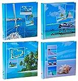 WELLGRO® 4er Set Jumbo Fotoalbum Beaches - für Insgesamt bis zu 1600 Fotos 10x15-30 x 30 cm (HxB) - 100 Seiten Pro Album