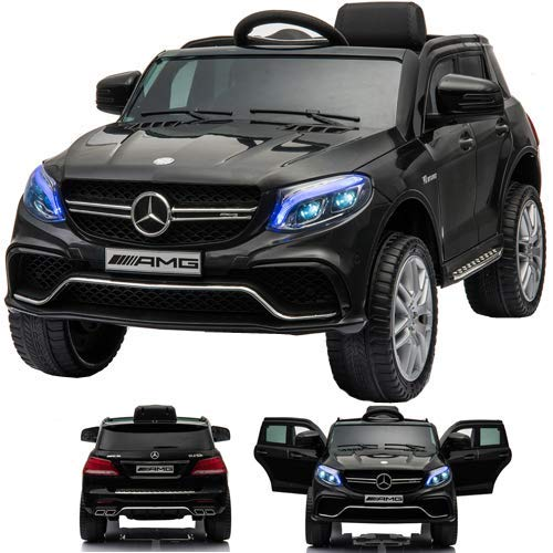 SIMRON - Mercedes-Benz GLE63s GLE 63s AMG SUV Ride-On 12V Kinderauto Kinderfahrzeug (schwarz)
