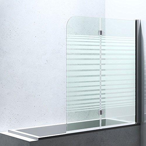 Duschabtrennung / Duschwand für Badewane aus Glas Cortona1408S-rechts, Wandanschlag rechts, inkl. Nanobeschichtung