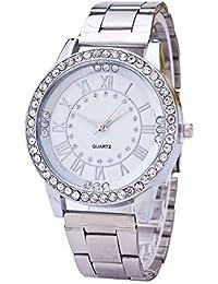 e0a0567cdd71 Contever Montres pour Hommes,Montre à quartz analogique Multifunction avec  strass bande décorative montre-