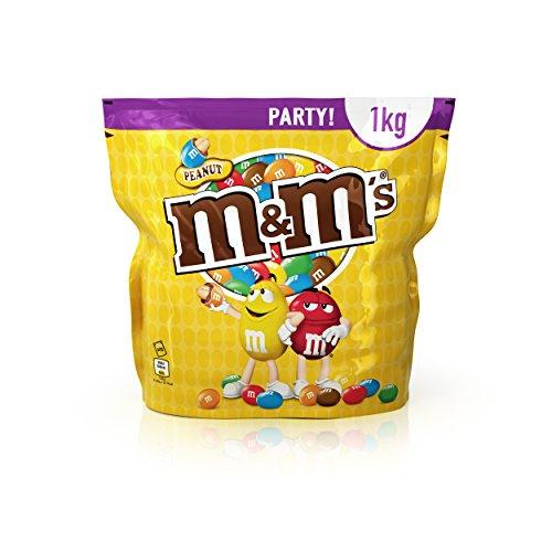 M&M'S Peanut / Geröstete Erdnüsse ummantelt von Milchschokolade / Bunter Knabberspaß für Groß und Klein / 1 x 1kg Beutel Test