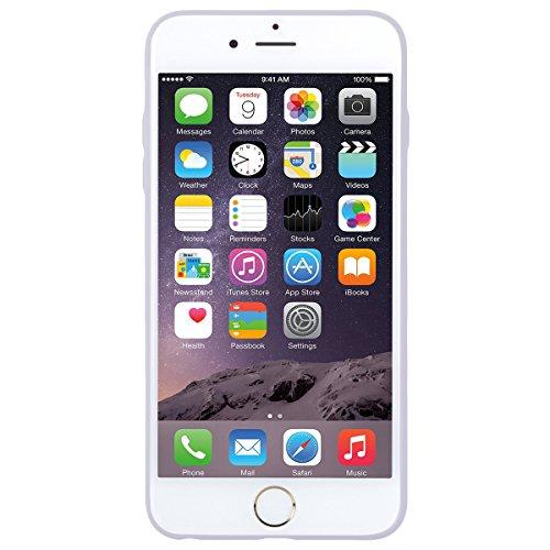 Dexnor Cover per iPhone 6 / 6S Custodia Caso, Durevole Candy Case Silicone Soft TPU Gel Morbido Sottile Protettiva Flessibile Bumper Back Cover Gomma Slim Protezione Posteriore Protector per Apple iPh Transparent/ Bianco