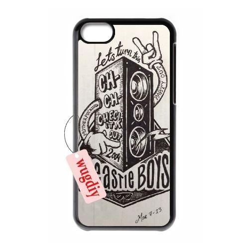 wugdiy DIY de protection à coque arrière rigide à clipser pour iPhone 5C avec Beastie Boys