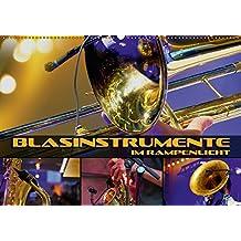 Blasinstrumente im Rampenlicht (Wandkalender 2018 DIN A2 quer): Stimmungsvolle Konzert- und Nahaufnahmen verschiedener Blasinstrumente (Monatskalender, 14 Seiten )