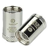Confezione 5 pz. Notch Resistenza di ricambio per atomizzatore Cubis Joyetech 0,25 ohm SS316 Senza Nicotina Sigaretta Elettronica
